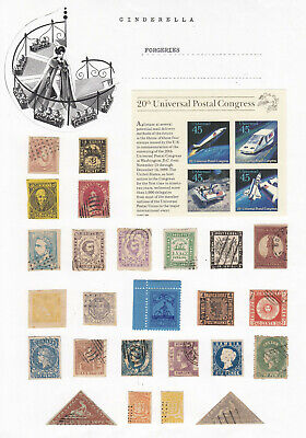 Worldwide - 'FORGERIES' STAMPS / LABELS (25+ cinderella collection)