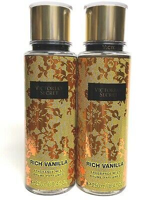 4e5b298a27 2 Victoria s Secret Rich Vanilla Women Fine Fragrance Mist Body Spray 8.4 Oz  New