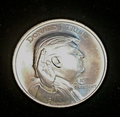 1 Troy Ounce .999 Fine Silver Round! NO RESERVE! Donald Trump 45th President