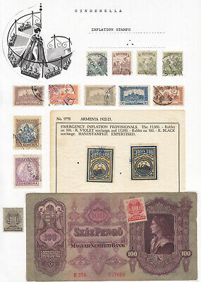 WORLDWIDE - INFLATION STAMPS / LABELS (cinderella collection)