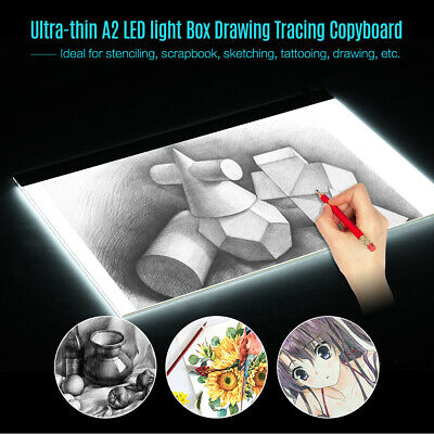 A2 Large Ultra-thin LED Light Pad Box Painting Tracing Panel Copyboard V6G5