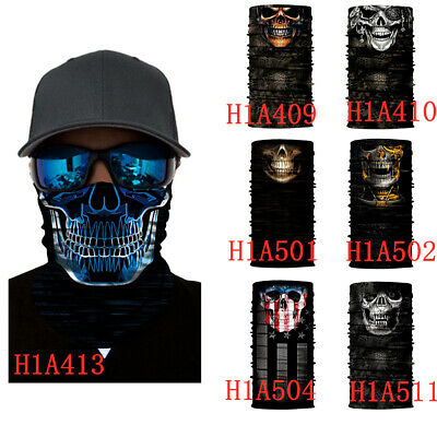 Bandana Face UV Shield Mask Fishing Headwear Biker Neck Tube Scarf Skull Snood
