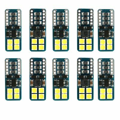 10 x Canbus Error Free T10 White 8 3030 SMD LED Car Side Wedge Lights Lamp Bulbs