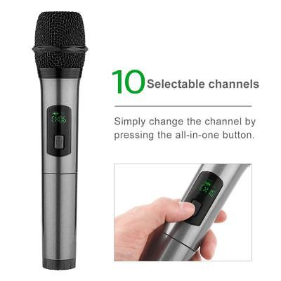 ARCHEER bluetooth Wireless HandHeld Microphone UHF Rechargeable Mic System