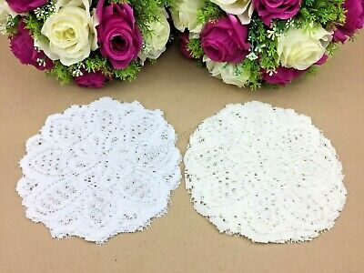 8pce Lace Table Doilies 20cm Round Home Decorative table Doily 100% Polyester