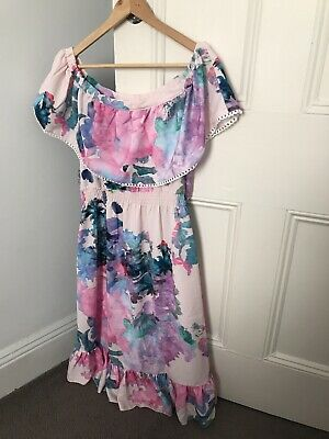 Ripe Maternity Gemma Watercolour Dress Size S
