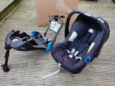 Britax baby-safe plus SHR II car seat and belted base (not Isofix)