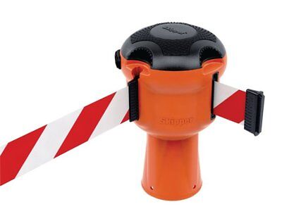 Skipper Retractable Belt Safety Barrier System With Red & White Tape 9m Inc VAT