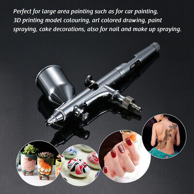 0.3mm High Precision DUAL-ACTION Feed Gravity AIRBRUSH Paint Hobby Art Kit W2Y2