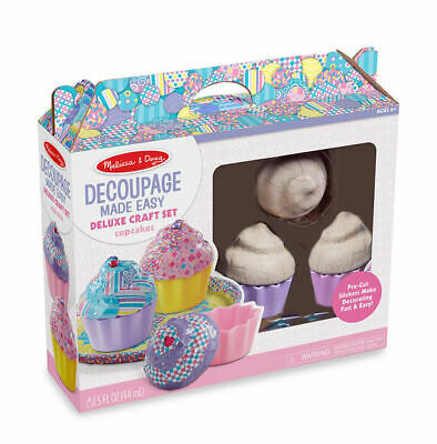 Melissa And Doug Decoupage Fácil Deluxe Manualidades Set - Pastelillos - 40108-