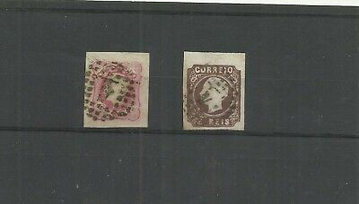 Portugal early imperf stamps imperf x 2 superb margins