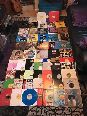 "Reggae LP 12"" Job Lot Vinyl Albums Singles 64 Records Wholesale Collection"