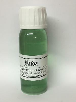 LOT X4 Ruda - ACEITE ESOTERICO - RITUAL OIL Rue 60ml. Spell Wicca