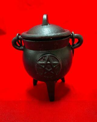 Caldero Pentagrama 8X6 Cm Wicca Spell Witches Witchcrafts Ritual