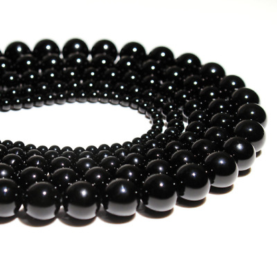 Series I lot natural black agate beads gemstone spacer loose beads 4/6/8/10mm