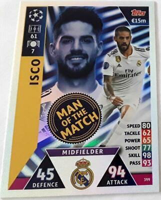 Topps Match Attax Champions League 2018-2019 Card No. 399 Isco