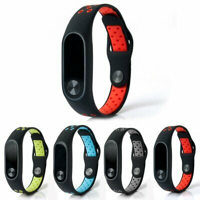 Rubber Wrist Strap Sport Wristband Bracelet Band Replacement for XIAOMI MI Band2