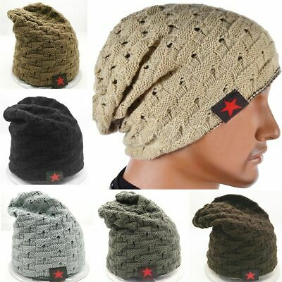 3af33eefb14 Unisex Men Women Knit Baggy Beanie Winter Hat Ski Slouchy Chic Knitted  Skull Cap