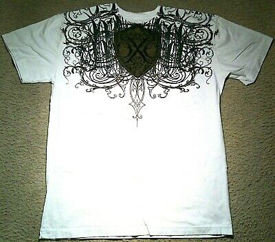 Xtreme Couture By Affliction White 3 Skull T-Shirt Size  Xl Nwot