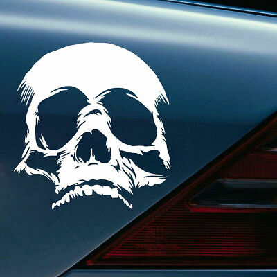Skull Face Motorcycle Car Sticker Vinyl Decals Funny Evil Terrible Removable