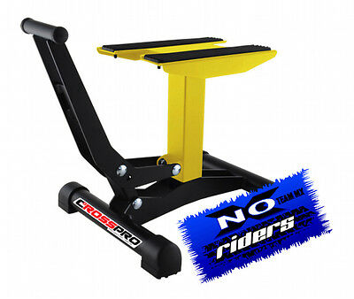 Cavalletto a Pedale Alza Moto Racing - Pro Giallo Noxriders