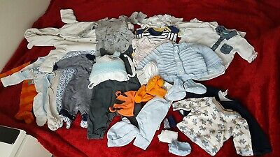 Baby clothes 0 to 3 months, most of them used,  but still brilliant condition.