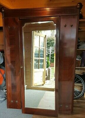 French Armoire Mahogany Wardrobe