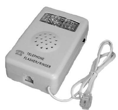 Telephone Strobe Light Flasher & Bell Ringer for Hearing Impaired / Deaf TEC48