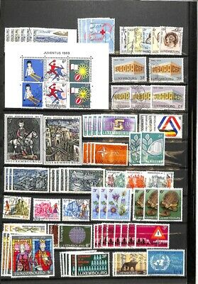 [OP9190] Luxembourg lot of stamps on 12 pages - see photos on description