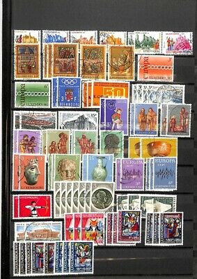 [OP9189] Luxembourg lot of stamps on 12 pages - see photos on description