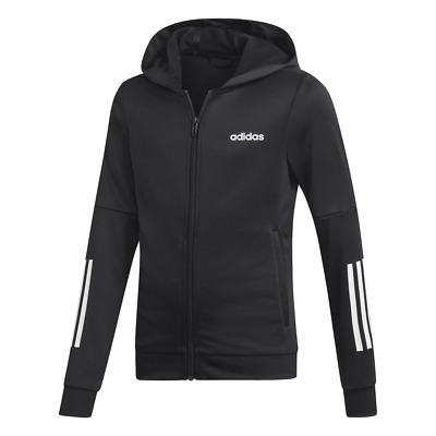 Adidas Girls Linear Logo Full Zip Hoodie