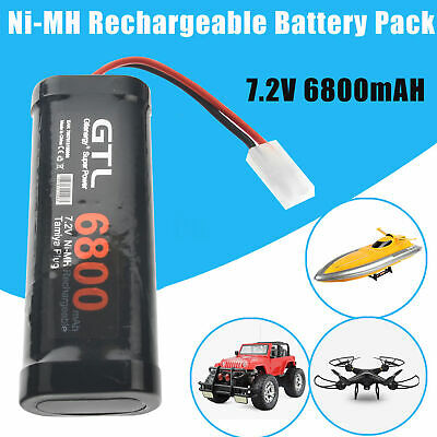 7.2V 6800mAH Ni-MH Rechargeable Battery Pack+Charger Toy Vehicle/Boat/AirPlane