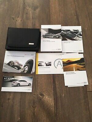 2012 Audi A7 Sportback Owners Manual Set 12 Wcase Mmi Navigation