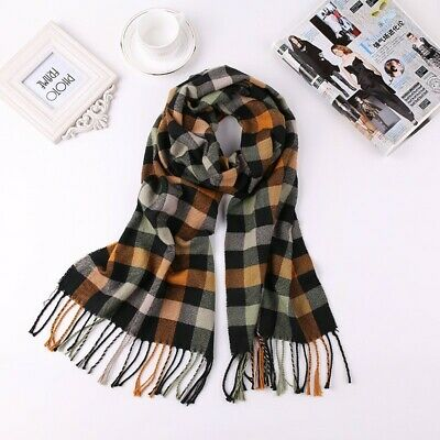 US Seller- 10 Mens and unisex plaid checked pashmina shawls scarves discount