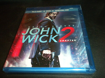 Blu-Ray+DVD Keanu Reeves John Wick Chapter 2