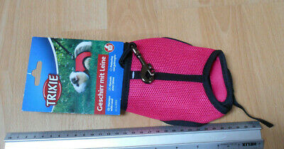 Trixie Guine Pig Pink Harness with Lead