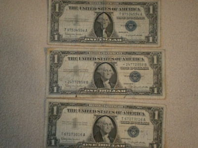 1957 One Dollar Well Circulated Silver Certificate  - $1 Bill