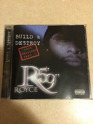 """Royce Da 59"""" Build And Destroy: Lost Sessions CD RARE Hip Hop Out Of Print!! Wow"""