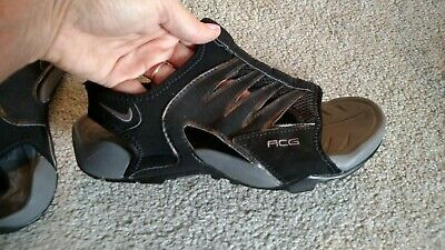 wholesale dealer 000c2 37284 Nike ACG Mens Size 7 Shoes Black and Gray Water Sport Sandals Hiking Camping