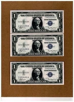 "$1.00 1935A SILVER CERTIFICATE ""CHANGE OVER SET~Mule to Non-Mule""~CHOICEcu & EPQ"