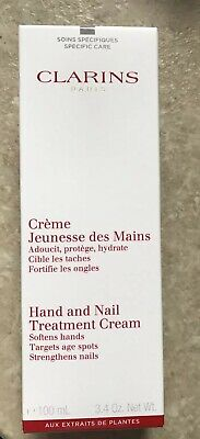 Clarins Hand And Nail Treatment Cream.softens Hands Strengthens Nails 100Ml New