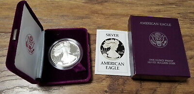1986-S American Silver Eagle 1 Oz Proof Coin US Mint With Box & COA