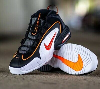 wholesale dealer 7b4c3 e4b02 NIKE Air Max Penny Le (GS) 315519-006 BLACK  TOTAL ORANGE-