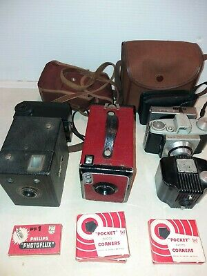 Kodak Popular Brownie Box + No 2 Brownie (red) + Baby Brownie  and others