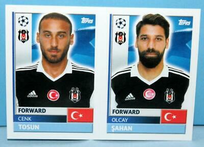 Topps Champions League 2016/2017 Sticker Nr.bes18-bes19