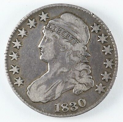 1830 Capped Bust Silver Half Dollar 50C - Large O