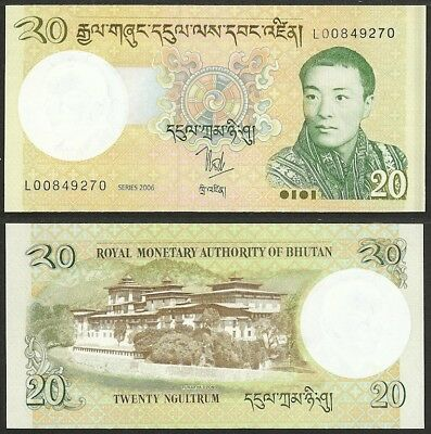 BHUTAN - 20 ngultrum 2006 P# 30 UNC Asia banknote - Edelweiss Coins