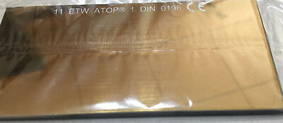 Filter Welding Glass Mirroring gold coloured 108x51x3 mm T. 11 Screen Welder