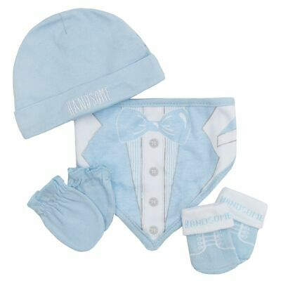 Babies 4 Piece Gift Set Kids Childrens Christmas Present Clothing Accessories