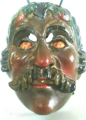 Very Rare Tecun Guatemalan Dance Mask Hard Wood With Patina